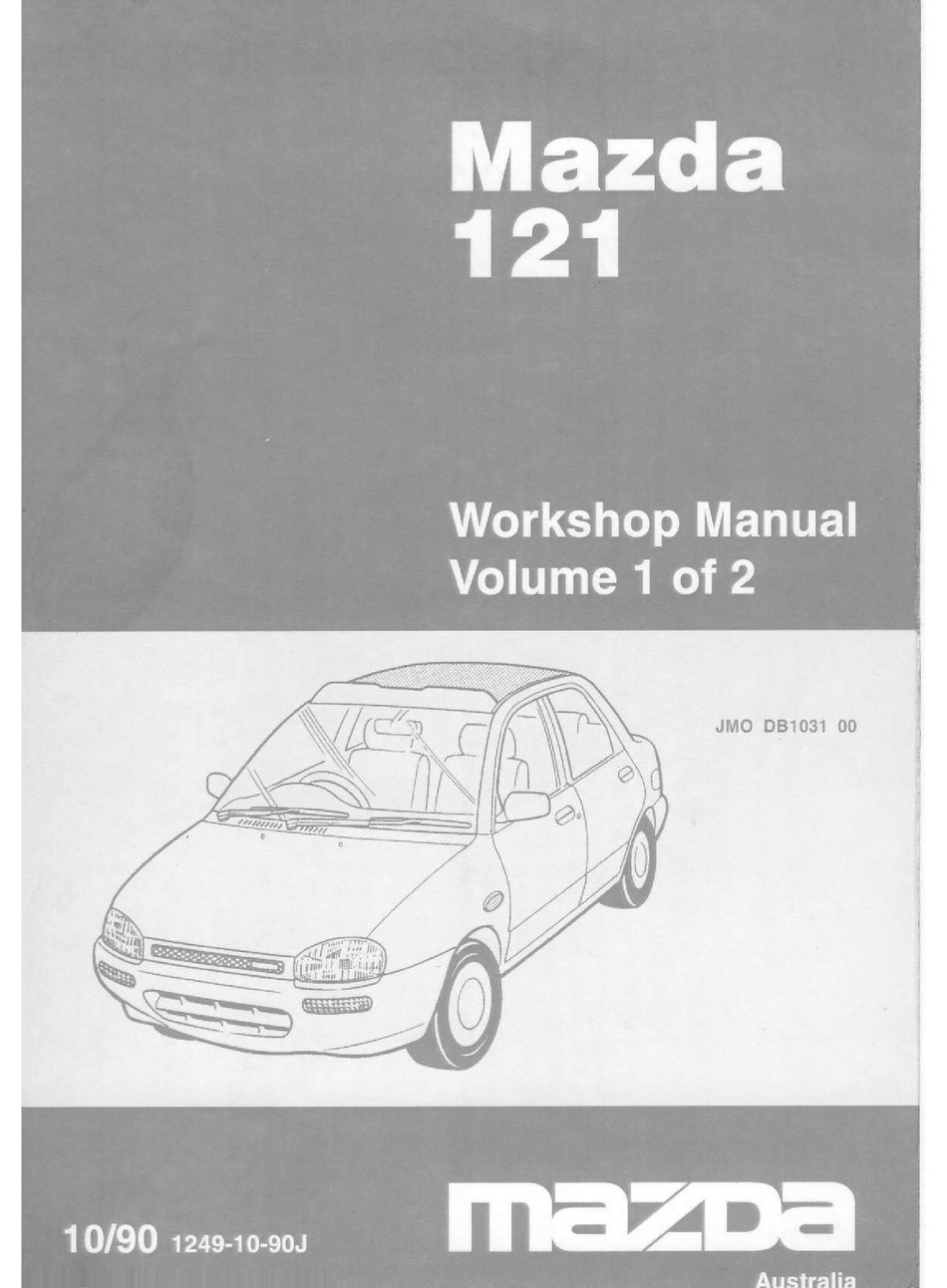 mazda 121 workshop manual pdf download | manualslib  manualslib