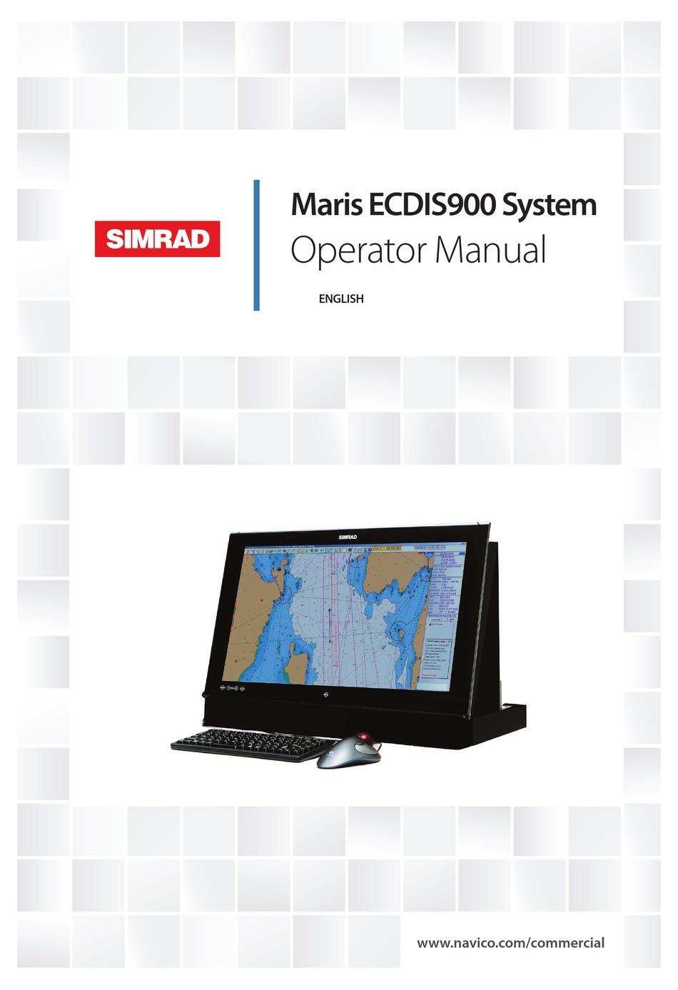 Simrad Maris Ecdis900 Operator S Manual Pdf Download Manualslib
