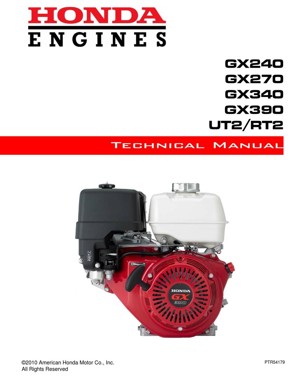 Honda Gx240 Technical Manual Pdf Download Manualslib