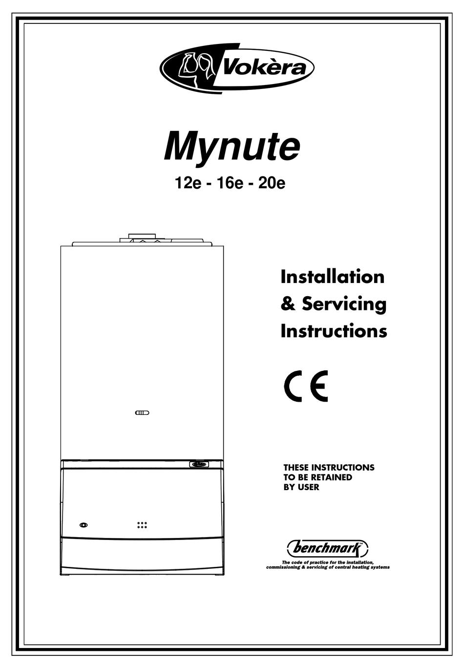 Vokera Mynute 12E 16E 20E 24E 28E 35E chaudière mécanique minuterie horloge 201