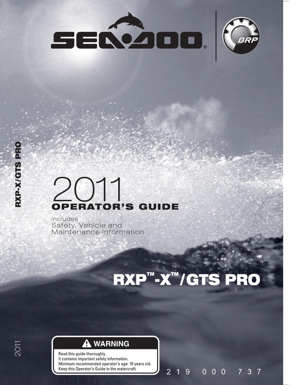 Sea Doo 2011 Rxp X Operator S Manual Pdf Download Manualslib
