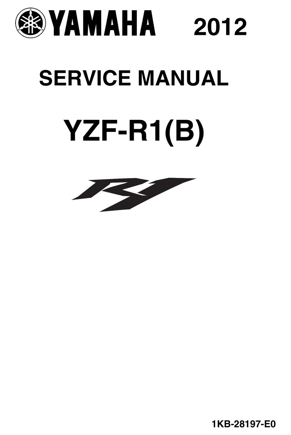 yamaha yzf-r1(b) 2012 service manual pdf download | manualslib  manualslib