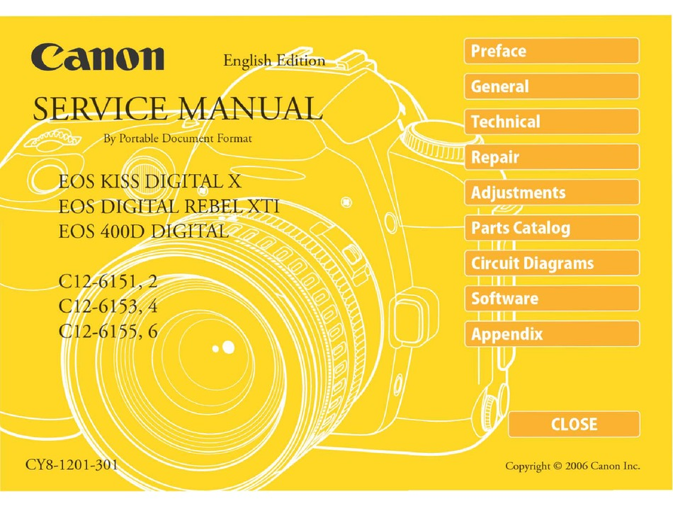 Canon Eos Digital Rebel Xti Service Manual Pdf Download Manualslib
