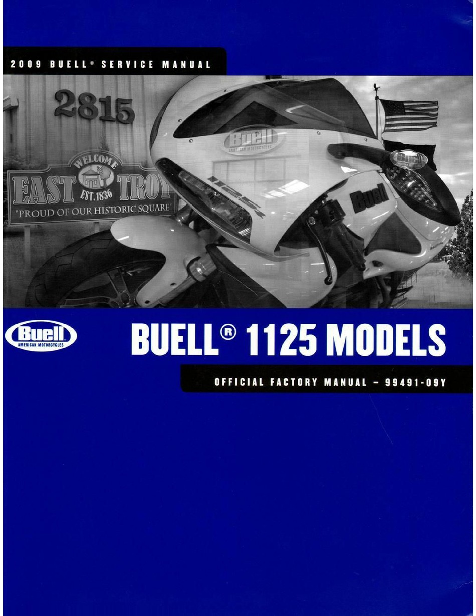 Buell 1125 2009 Series Service Manual Pdf Download Manualslib