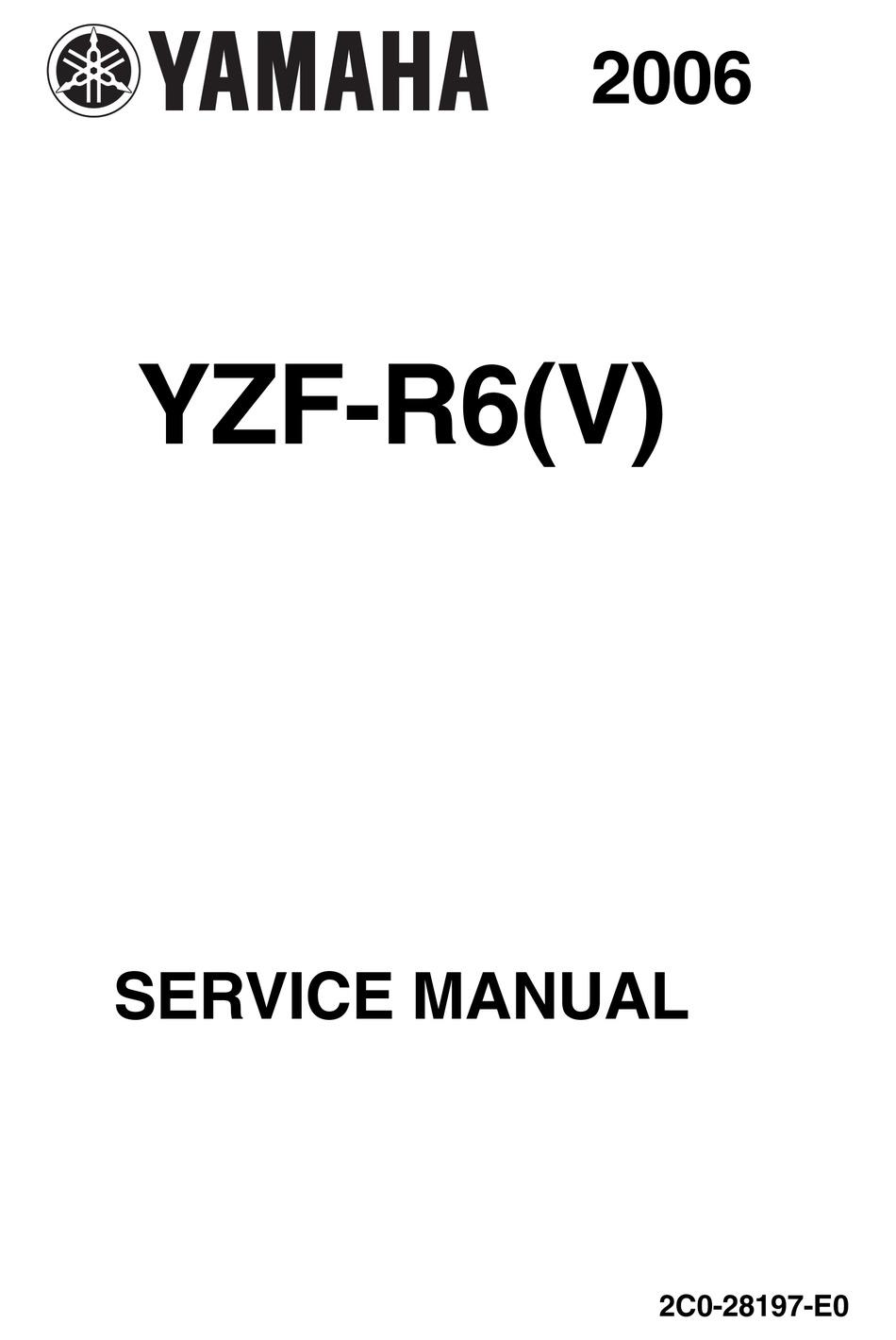 YAMAHA YZF R40V 20040 SERVICE MANUAL Pdf Download   ManualsLib