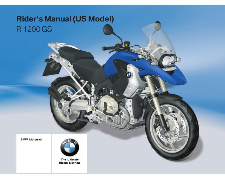 Bmw 2011 R 1200 Gs Rider S Manual Pdf Download Manualslib