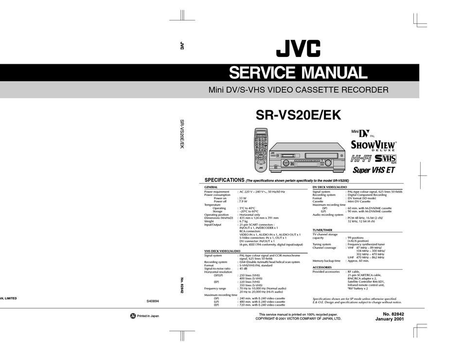 JVC HR-J321EM SERVICE MANUAL Pdf Download | ManualsLib