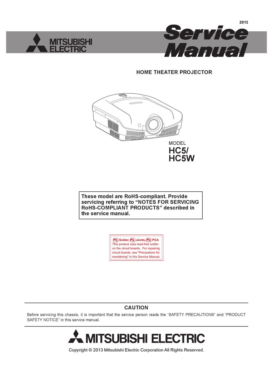 Mitsubishi Electric Hc5 Service Manual Pdf Download Manualslib