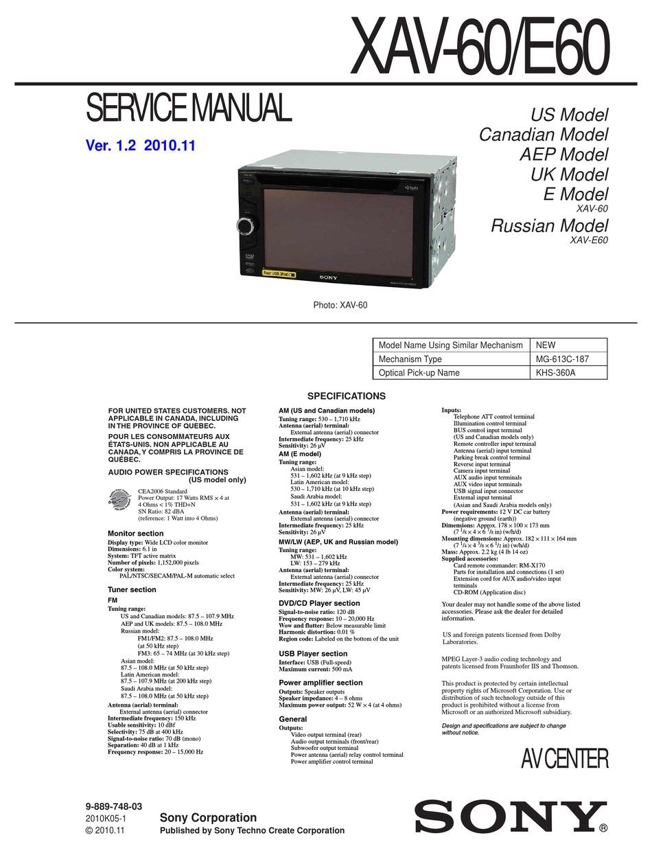 SONY XAV-60 SERVICE MANUAL Pdf Download | ManualsLib | Car Audio Wiring Diagram Sony Xav 60 |  | ManualsLib