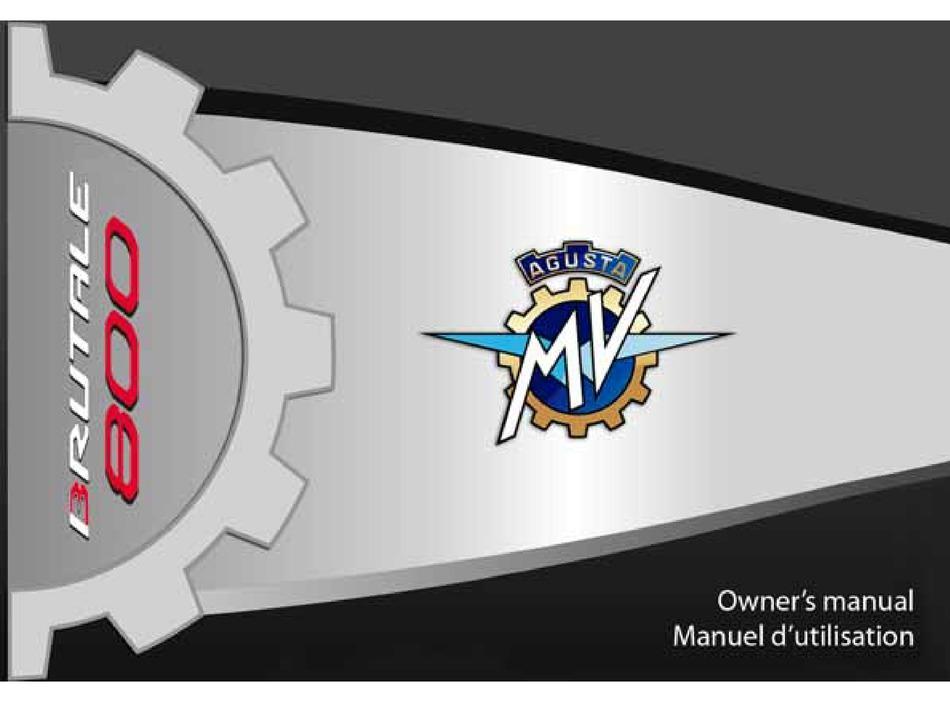 Mv Agusta Brutale 800 Owner S Manual Pdf Download Manualslib