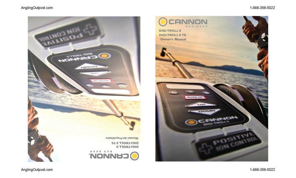 Cannon Digi Troll 5 Downrigger Fishing Rod & Reel Storage ...