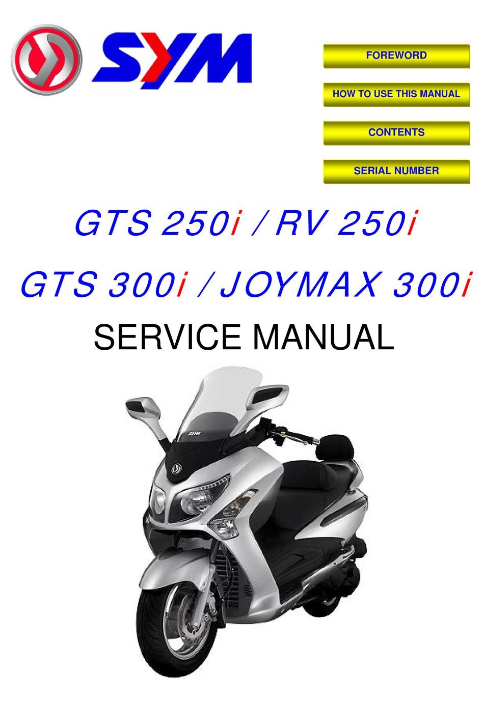Sym Rv 250i Service Manual Pdf Download Manualslib