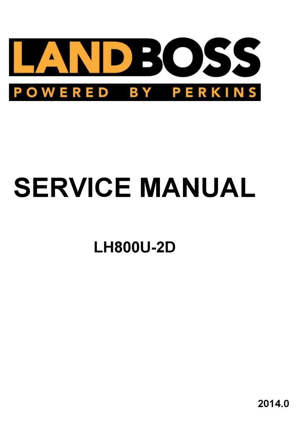 LINHAI LANDBOSS LH800U-2D SERVICE MANUAL Pdf Download ...