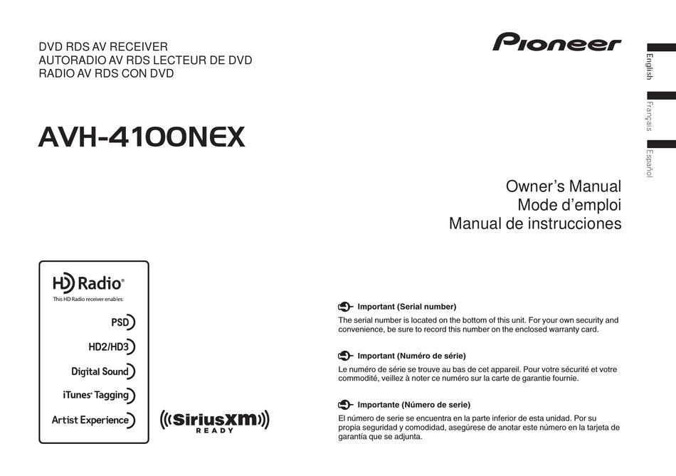 Pioneer Avh 4100nex Owner S Manual Pdf, Pioneer Avh2300dvd Wiring Diagram
