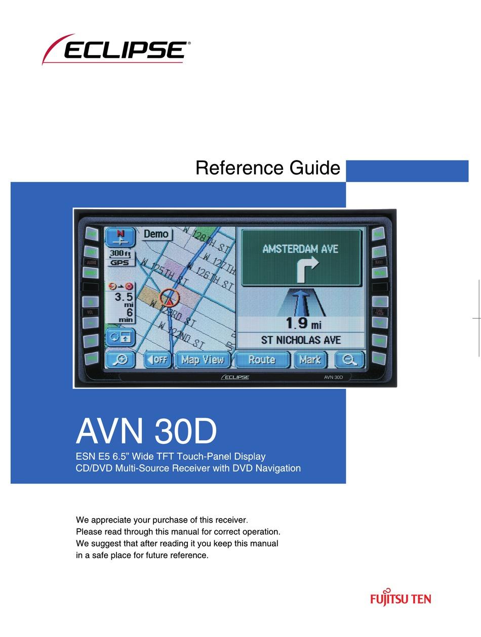 Eclipse Avn30d Reference Manual Pdf Download Manualslib