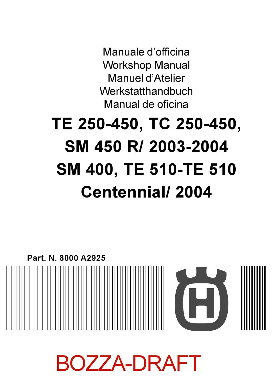 Husqvarna Te 250 450 Workshop Manual Pdf Download Manualslib