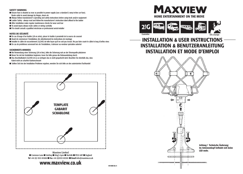 Maxview Omnimax Tour Aerial