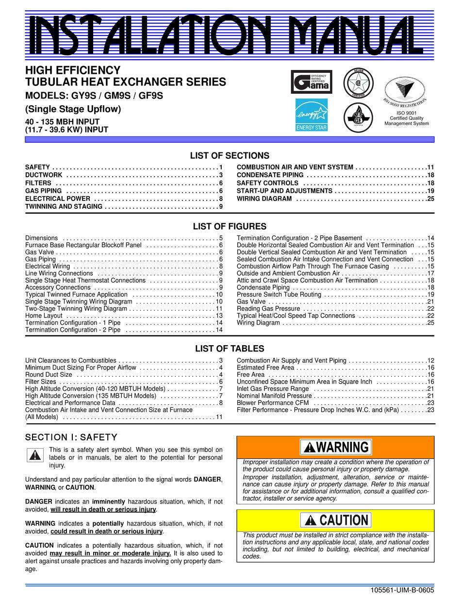 YORK GY9S INSTALLATION MANUAL Pdf Download | ManualsLib | Twinning Furnaces Wiring Diagram For Gas |  | ManualsLib