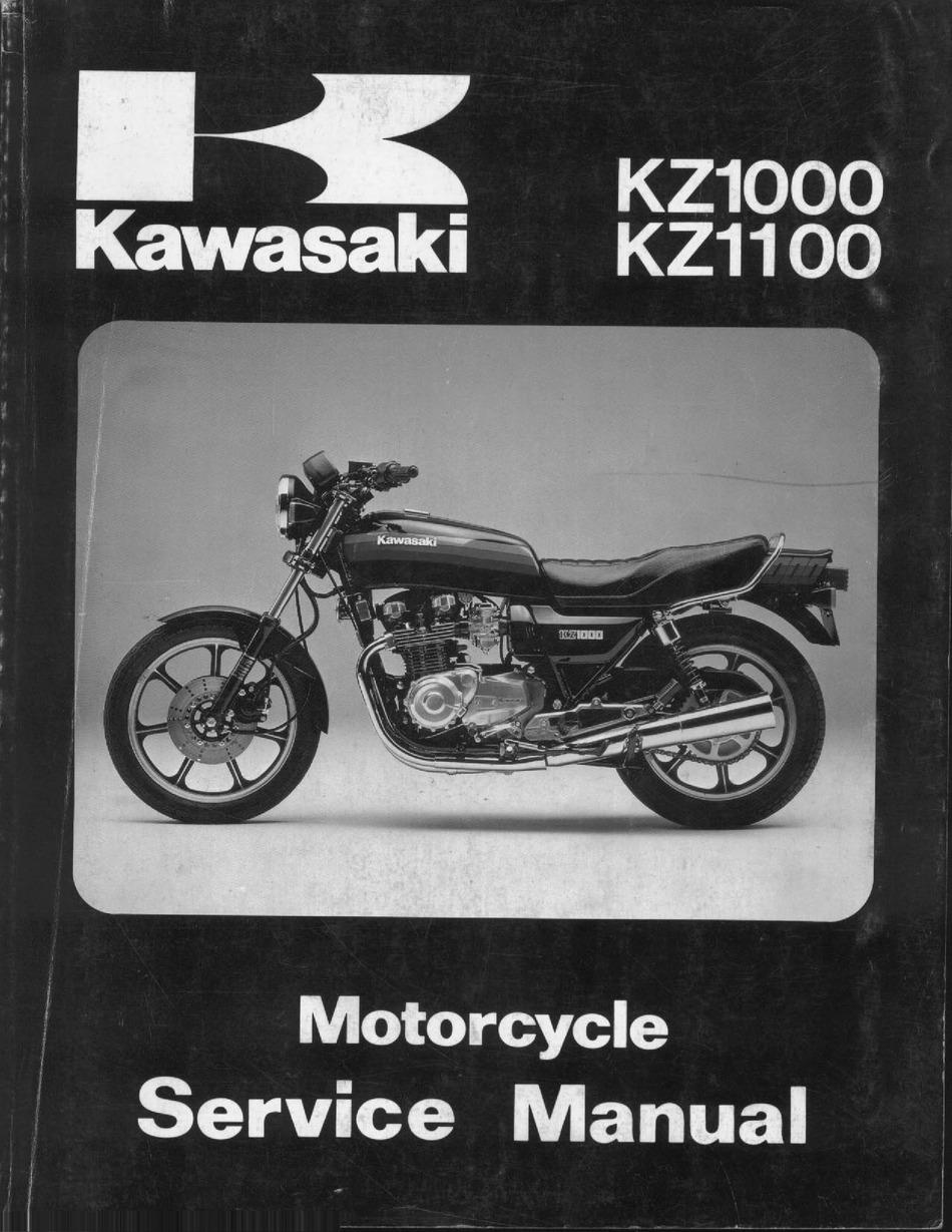 kawasaki kz1100 service manual pdf download | manualslib  manualslib