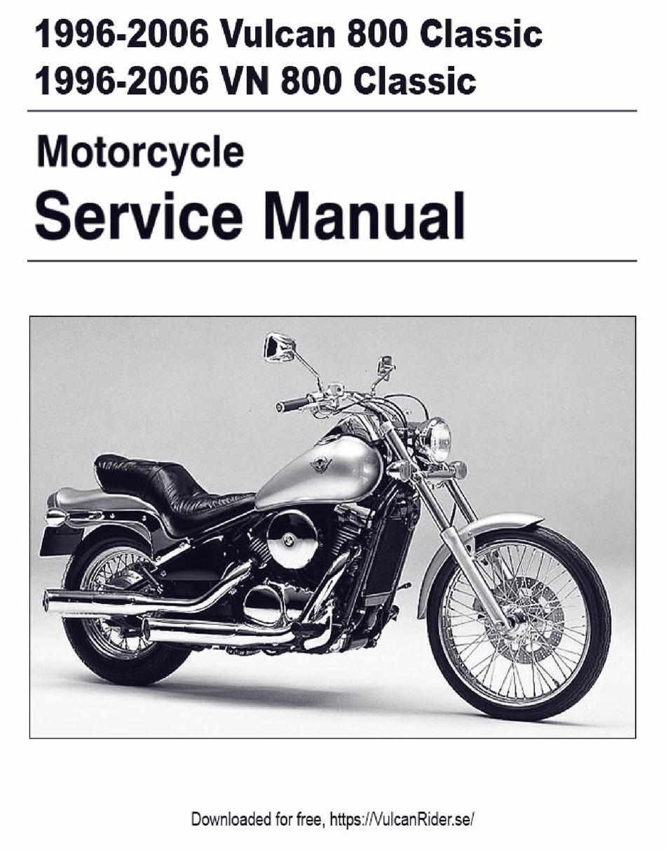 kawasaki vn 800 classic service manual pdf download | manualslib  manualslib
