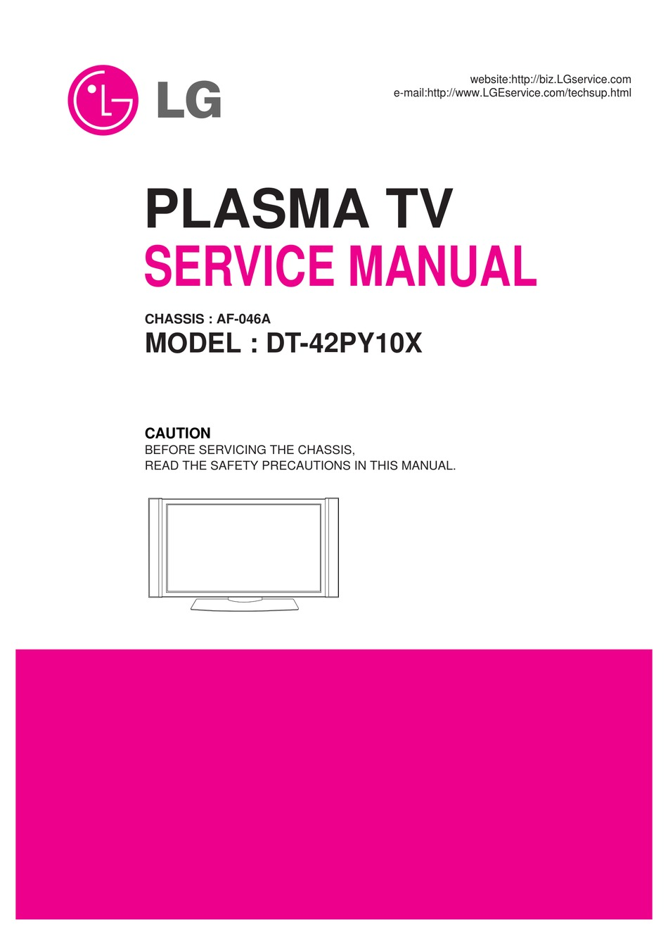Lg Dt 42py10x Service Manual Pdf Download Manualslib
