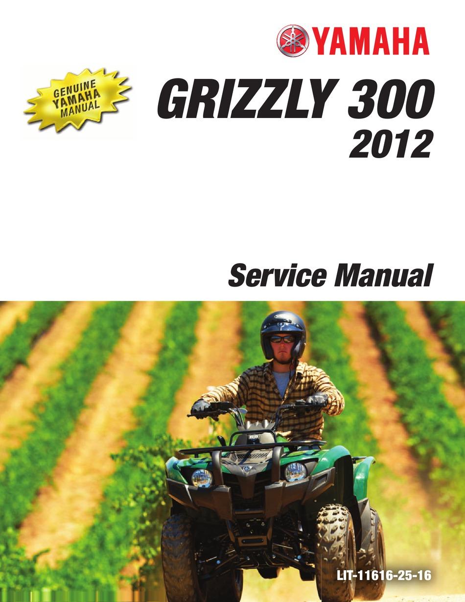 Yamaha 2012 Grizzly 300 Service Manual Pdf Download Manualslib