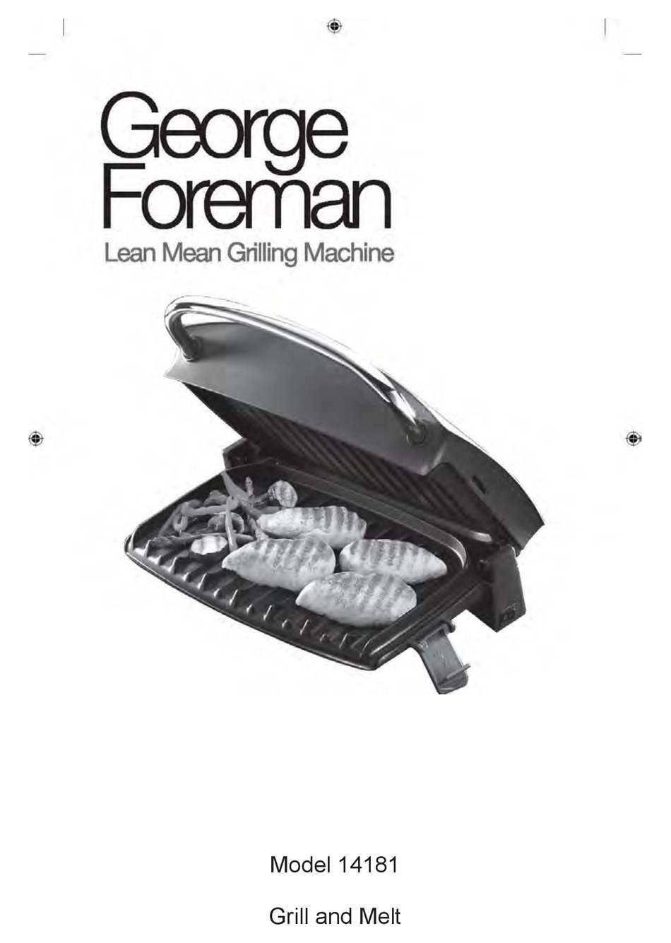 George Foreman 14181 User Manual Pdf Download Manualslib