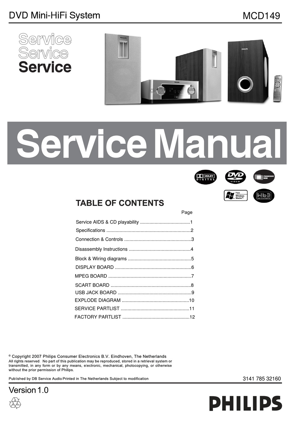 Philips Mcd149 Service Manual Pdf Download Manualslib