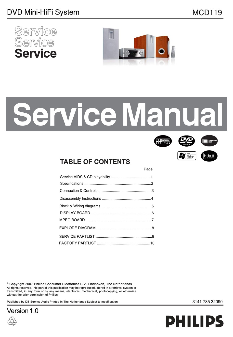 Philips Mcd119 Service Manual Pdf Download Manualslib