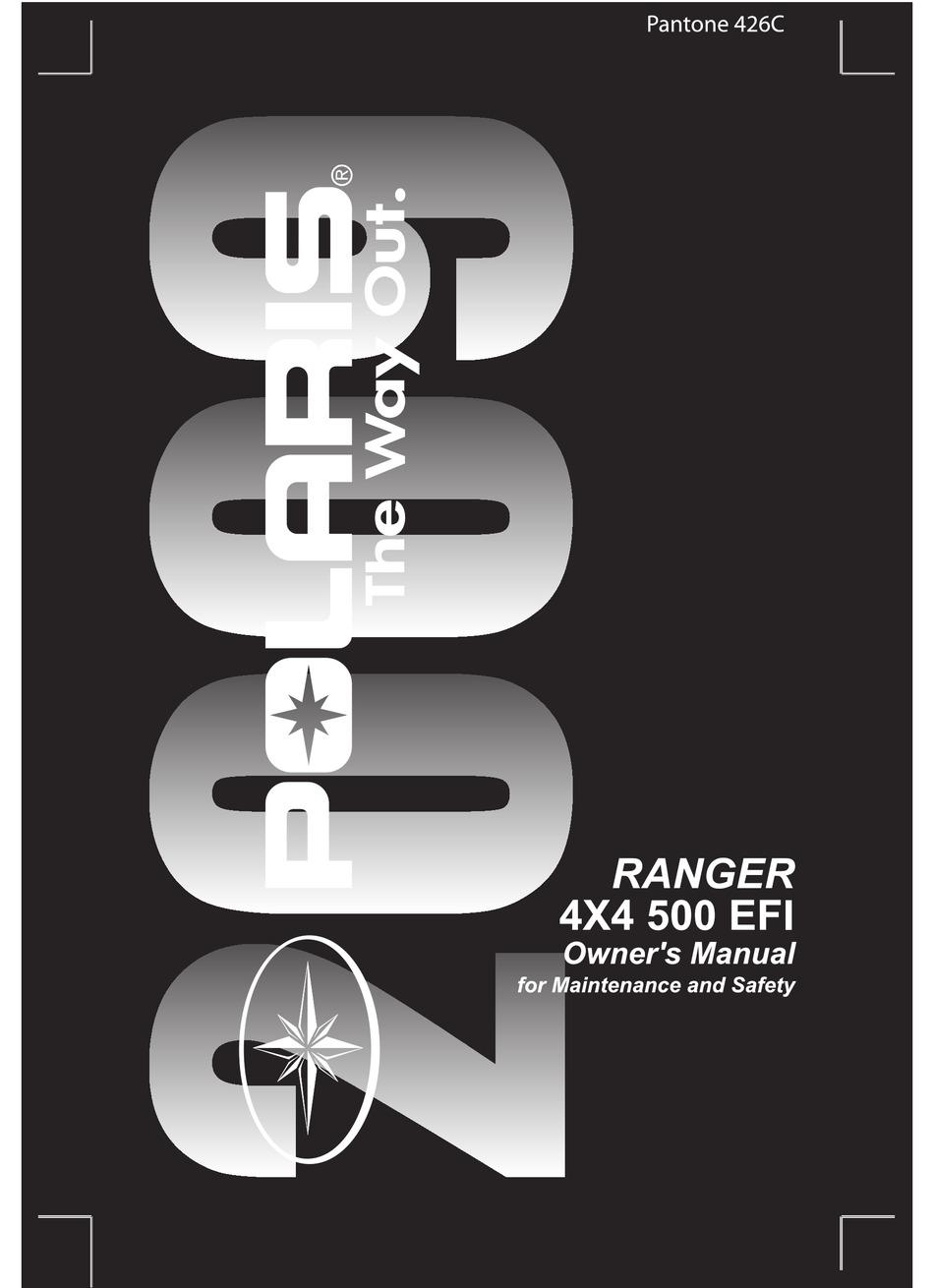Polaris Ranger 4x4 500 Efi Owner S Manual Pdf Download Manualslib