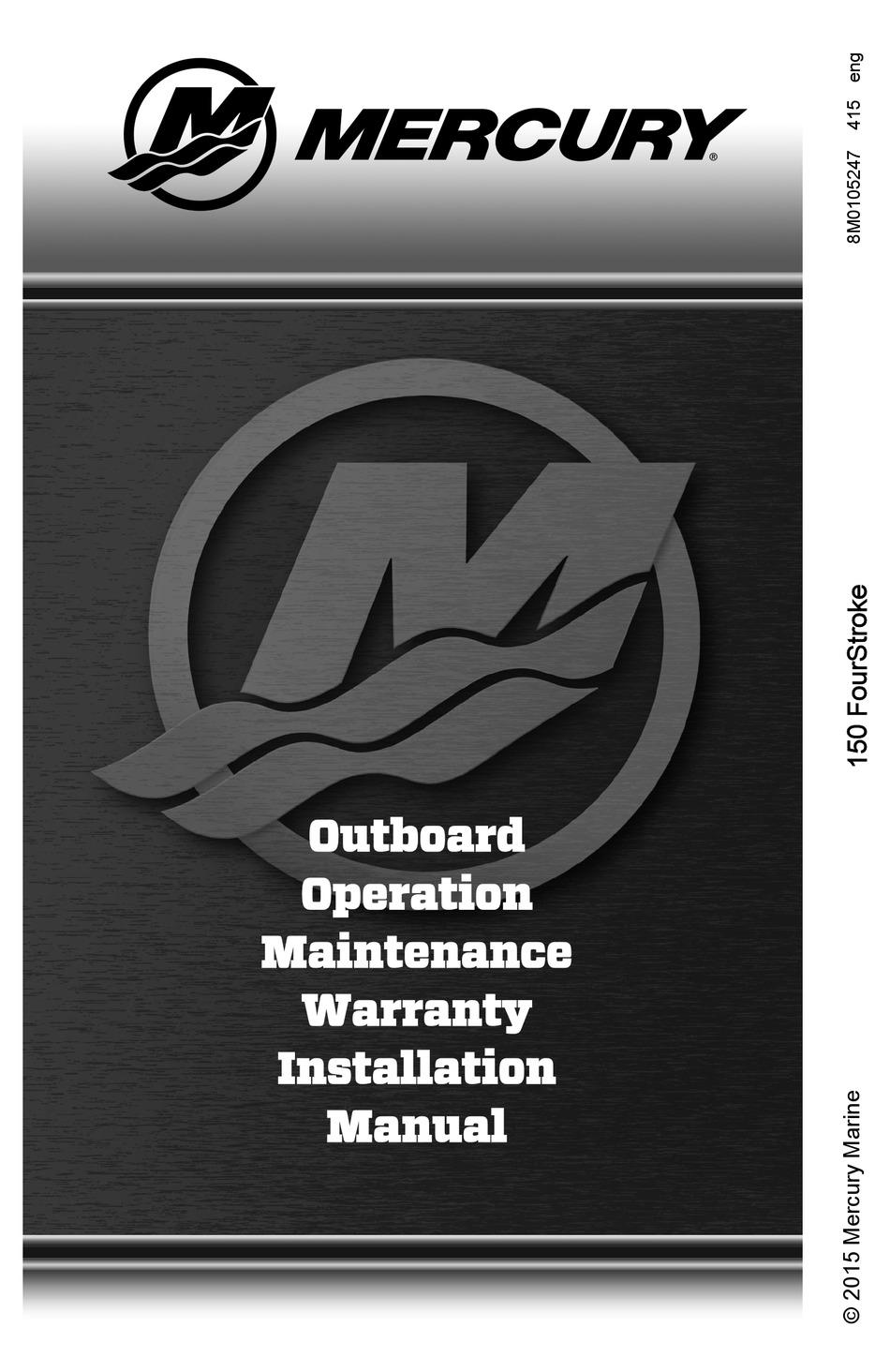 mercury 150 fourstroke operation & installation manual pdf download    manualslib  manualslib