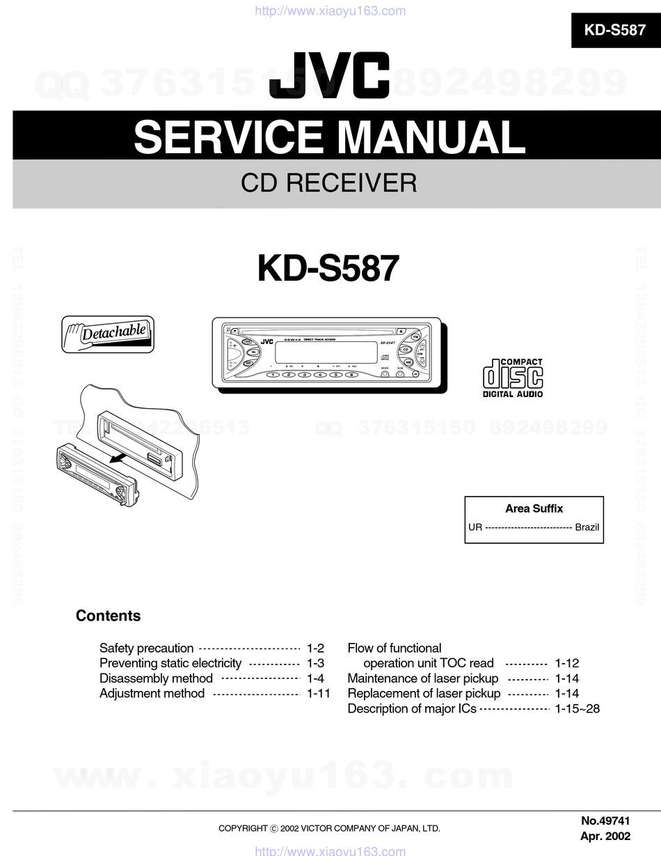 Jvc Kd S587 Service Manual Pdf