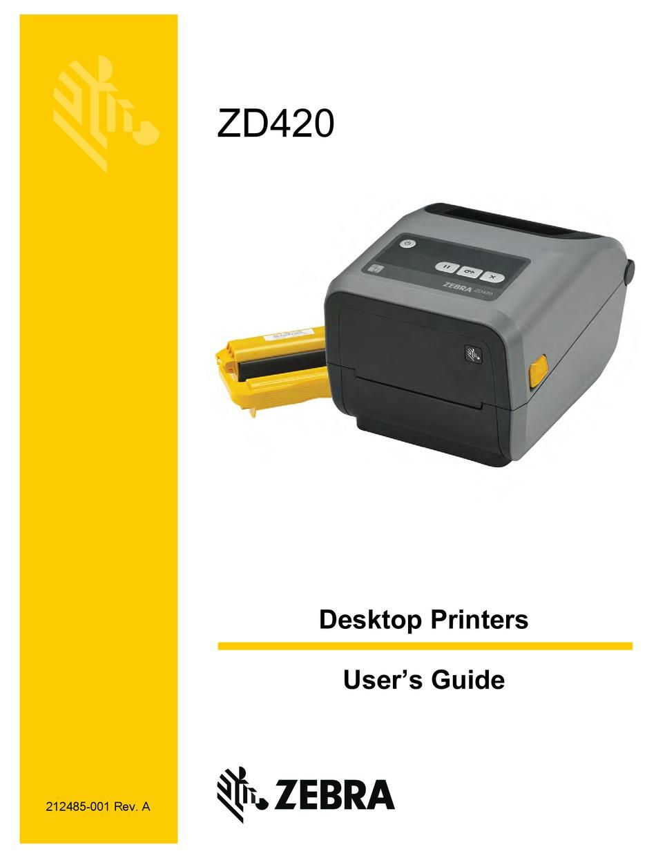 Zebra Zd420 User Manual Pdf Download Manualslib