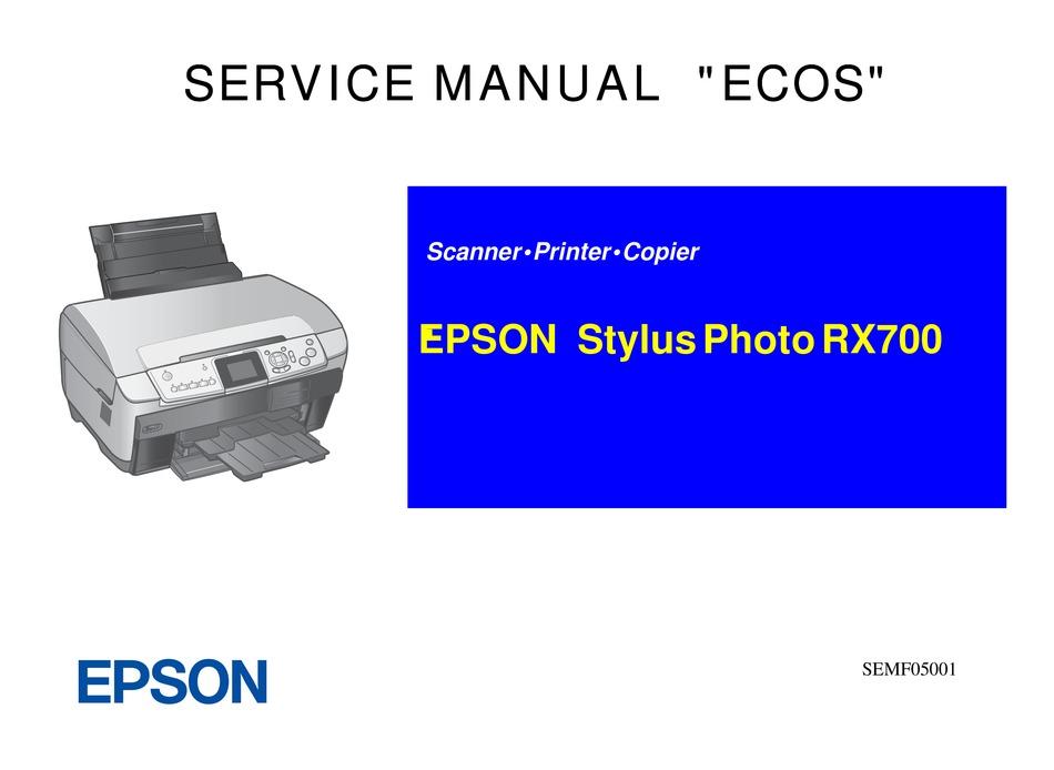 Epson Stylus Photo Rx700 Service Manual Pdf Download Manualslib