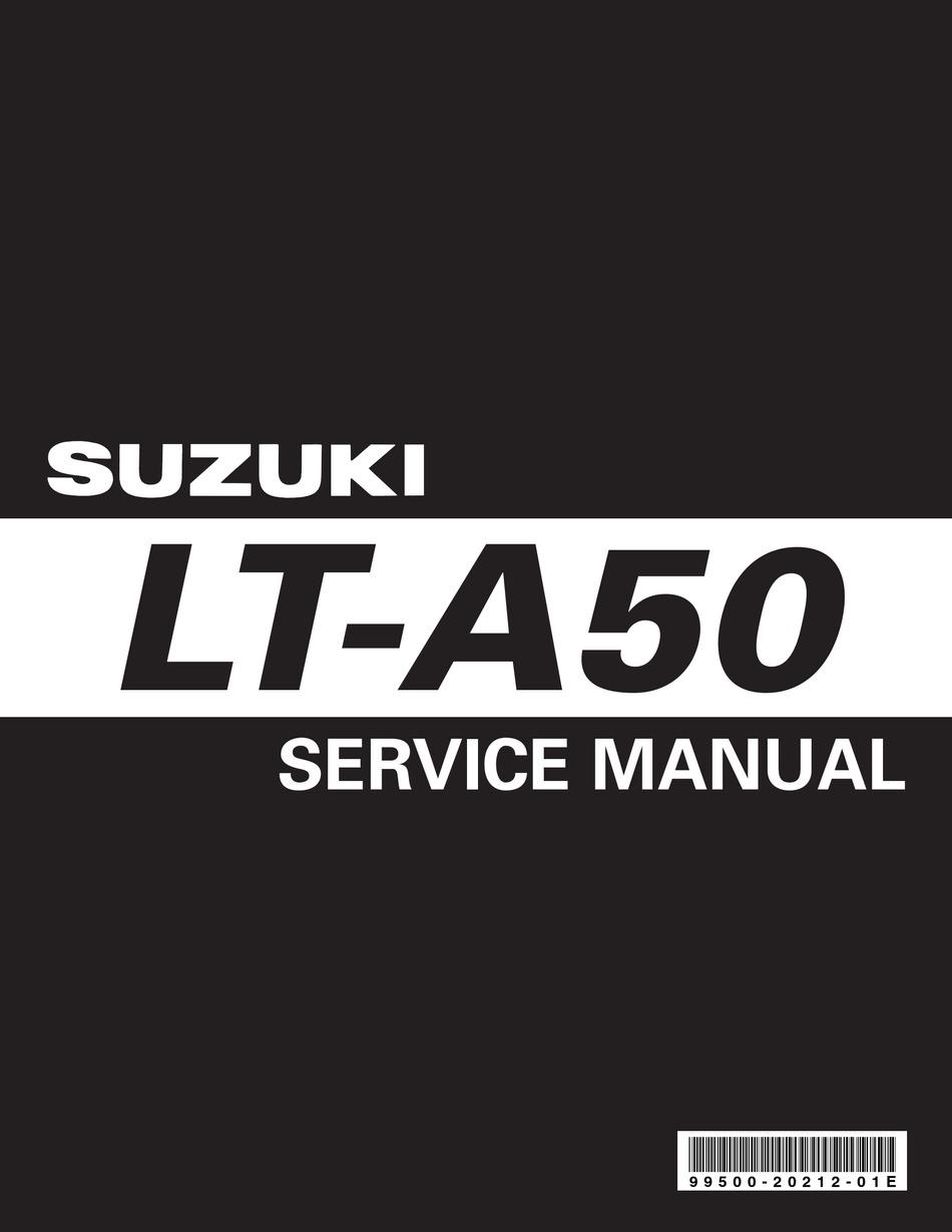 Suzuki Lt A50 Service Manual Pdf Download Manualslib