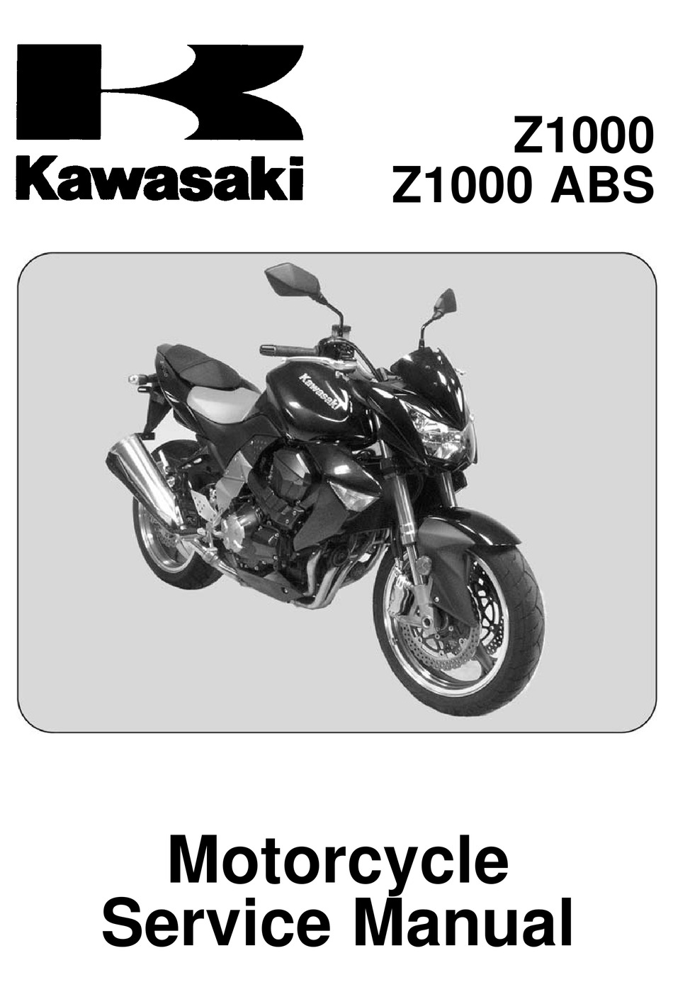 Kawasaki Z1000 Service Manual Pdf Download Manualslib