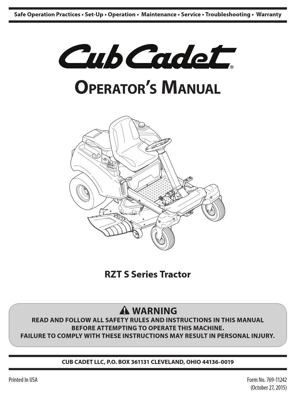 Cub Cadet Rzt Wiring