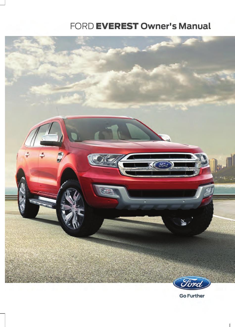Ford Everest Owner S Manual Pdf Download Manualslib