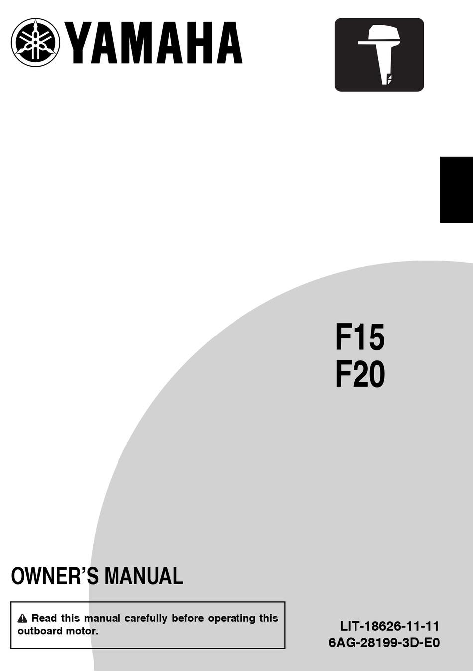 Yamaha F15 Owner S Manual Pdf Download Manualslib