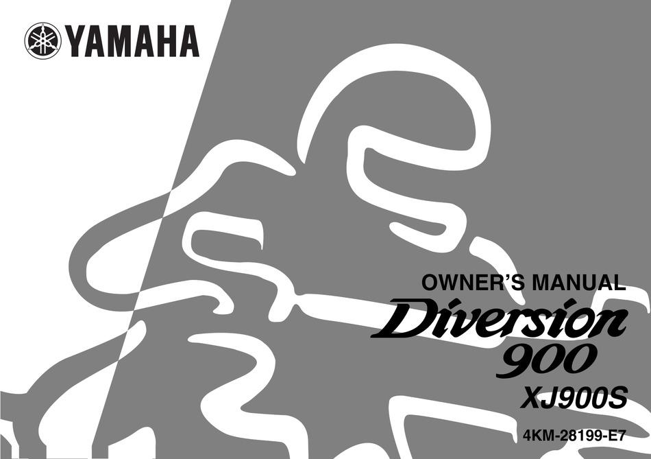 Yamaha Diversion 900 Xj900s Owner S Manual Pdf Download Manualslib