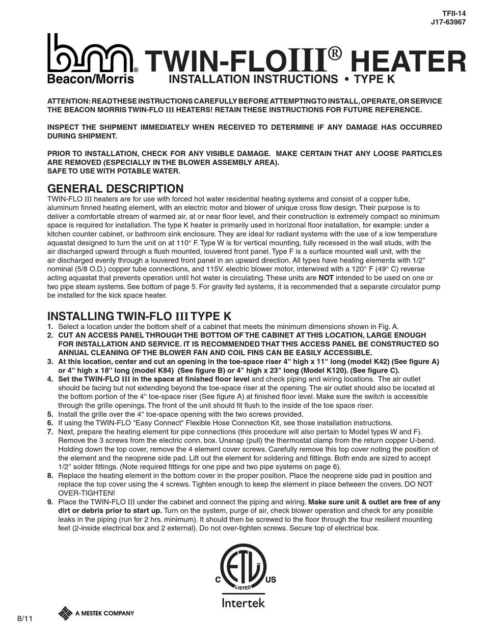 BEACON/MORRIS TWIN-FLOIII INSTALLATION INSTRUCTIONS MANUAL Pdf Download |  ManualsLib | Beacon Morris Wiring Diagram |  | ManualsLib