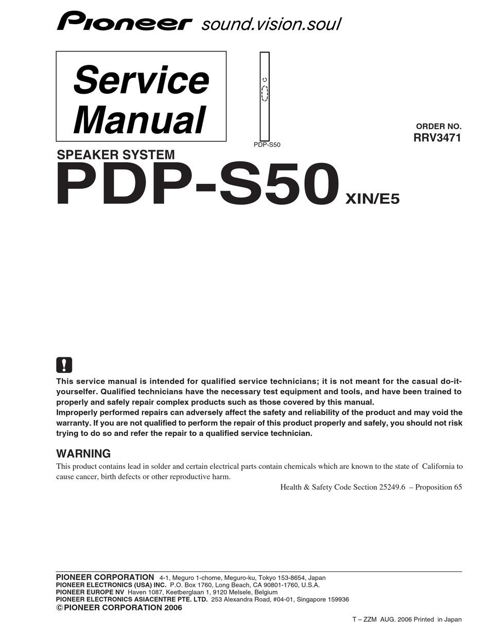 Pioneer CD UB100 Service Manual. Www.s manuals.com. Manual