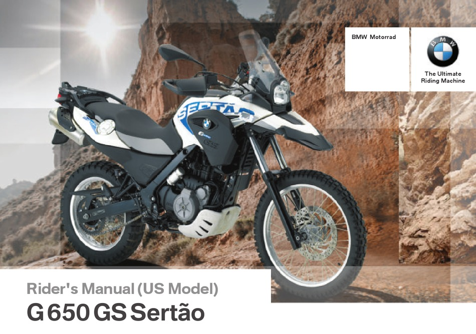 Bmw G 650 Gs Sertao Rider S Manual Pdf Download Manualslib