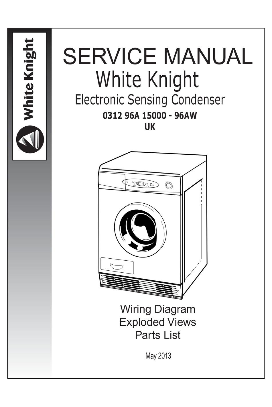 WHITE KNIGHT 96AW SERVICE MANUAL Pdf Download | ManualsLib | White Knight Tumble Dryer Wiring Diagram |  | ManualsLib