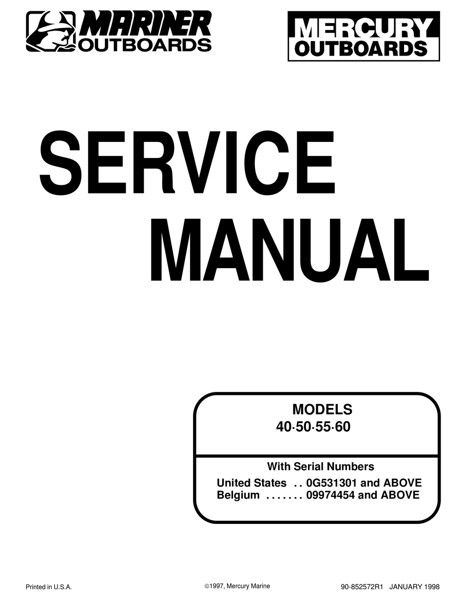 MERCURY 40 SERVICE MANUAL Pdf Download | ManualsLib | 1998 Mercury Outboard Wiring Diagram Free Picture |  | ManualsLib