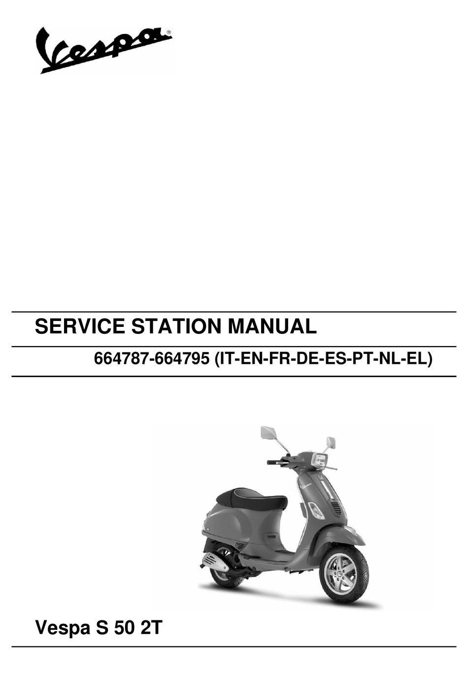 Vespa 664787 Service Station Manual Pdf Download Manualslib