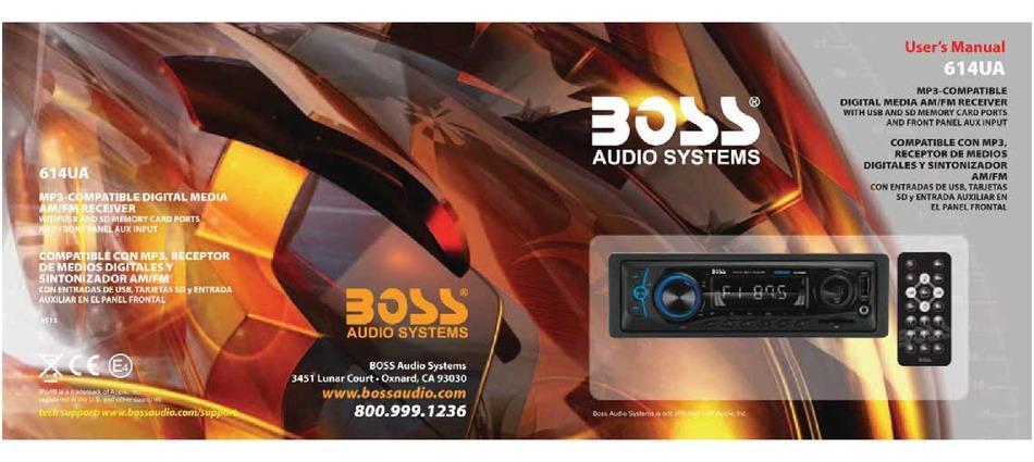 BOSS 614UA USER MANUAL Pdf Download   ManualsLibManualsLib