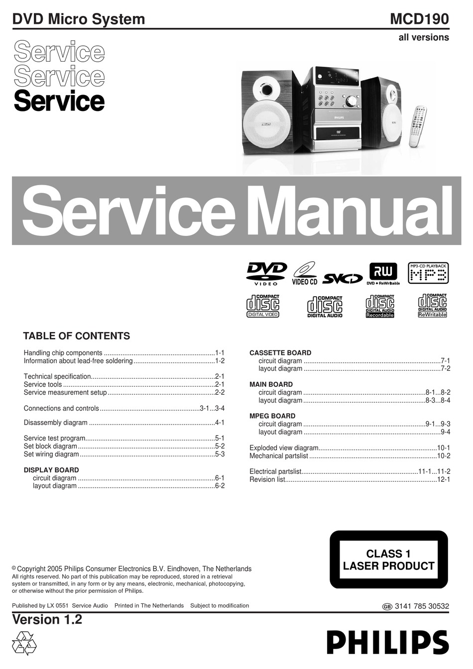 Philips Mcd190 Service Manual Pdf Download Manualslib