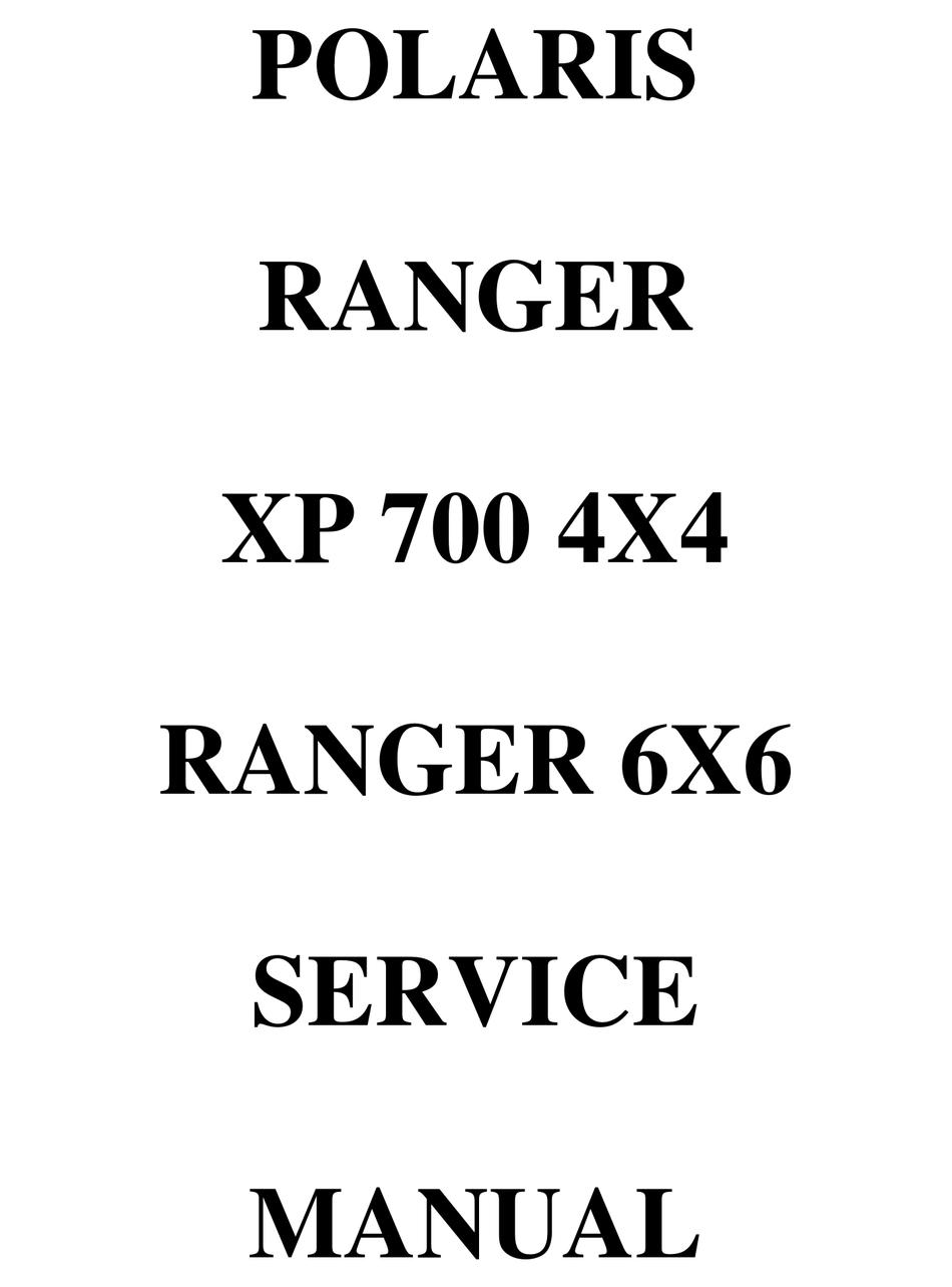 Polaris Ranger Xp 700 4x4 Service