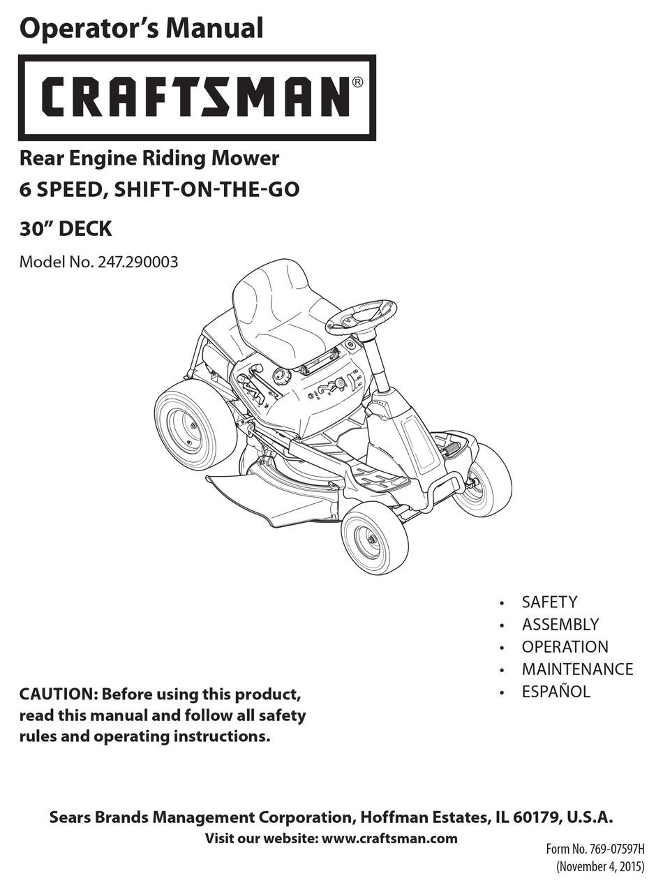Craftsman Rer 1000 User Manual Pdf Download Manualslib